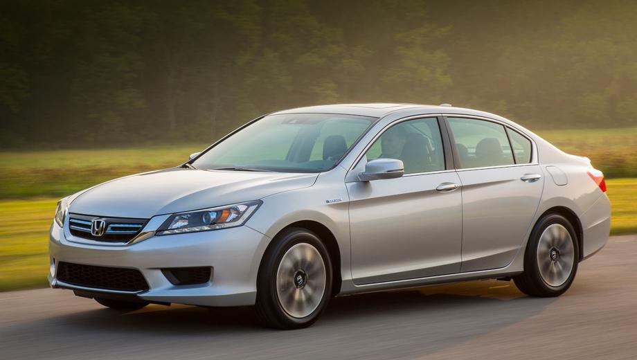 Honda accord,Honda accord hybrid. Гибридный Аккорд был рассекречен летом этого года. Суммарная отдача силовой установки составляет 196 л.с.