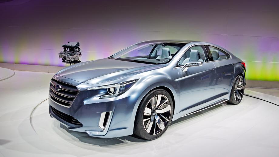 Subaru legacy concept,Subaru legacy. Официальный дебют новинки состоится 20 ноября.