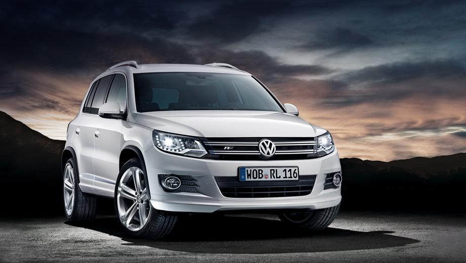 Volkswagen tiguan. Все кроссоверы Tiguan с пакетом R-Line будут поставлять к нам в страну из Германии.