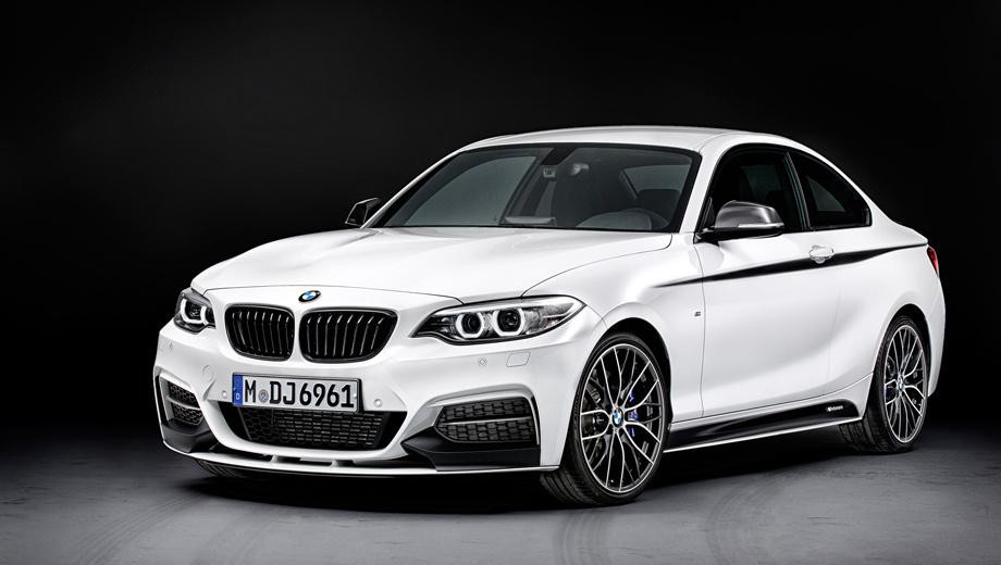 Bmw 2. Если заказать все доступные в линейке M Performance внешние украшательства, образ купе станет заметно спортивнее и агрессивнее.