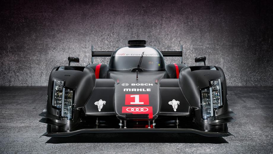 Audi r18. По словам представителей компании, в ходе испытаний особое внимание будет уделено достижению максимального пробега, координации работы компонентов системы гибридного привода и разработке максимально эффективной общей компоновки.