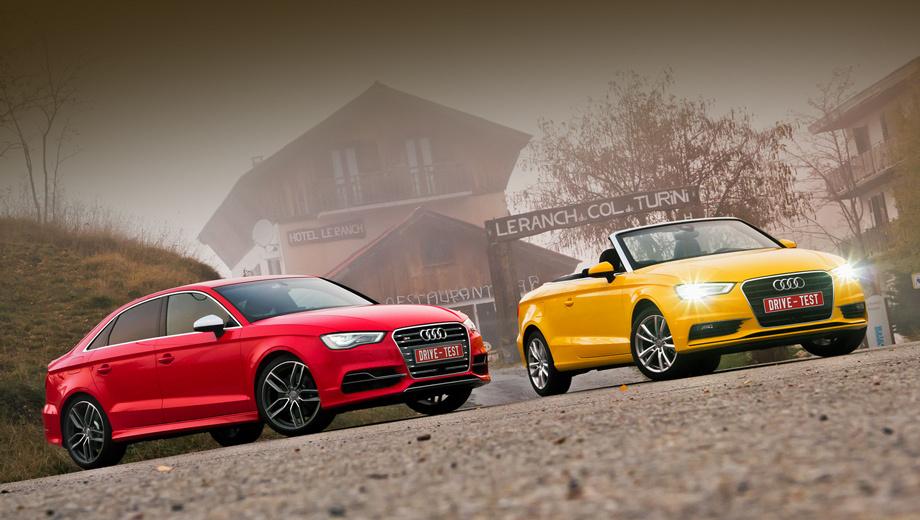 Audi a3,Audi a3 cabrio,Audi s3,Audi s3 sedan. Открытые версии «а-третьих» появятся у нас ближе к лету следующего года. А вот на седан Audi S3 уже принимаются заказы. Стоимость версии с «механикой» — от 1 809 000 рублей. Доплата за «робот» S tronic — 71 тысяча рублей.
