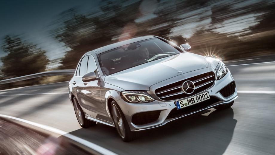 Mercedes c. Внешнее сходство с представительским седаном Mercedes S-класса видно невооружённым глазом. Список электронных помощников, доступных для «цешки», практически тот же, что и для флагмана.