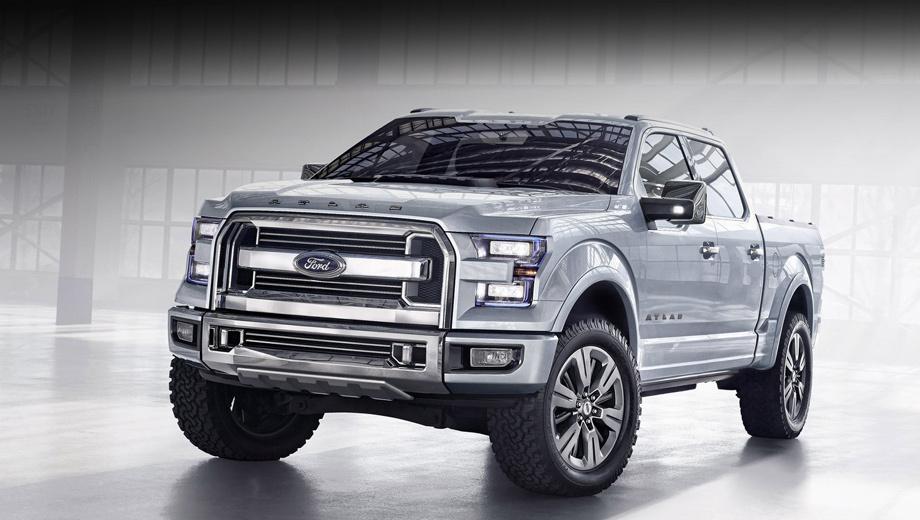 Ford f150. Создатели обещают, что стилистически новый F-150 будет во многом схож с концептом Ford Atlas,  показанным в начале 2013 года  в Детройте.