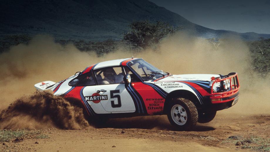 Porsche 911. Название Safari отсылает нас к раллийному болиду 911 SC Safari, в 1984 году выигравшему марафон «Париж — Дакар».