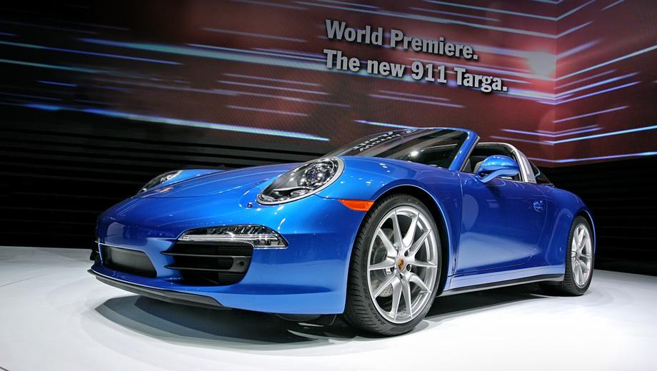 Porsche 911,Porsche 911 targa. Максимальная скорость у машин с кузовом Targa не отличается от аналогичного показателя кабриолетов — от 280 до 296 км/ч в зависимости от мотора и коробки передач. При этом Targa, как и модификация Cabriolet, отвечает нормам токсичности Евро-6.