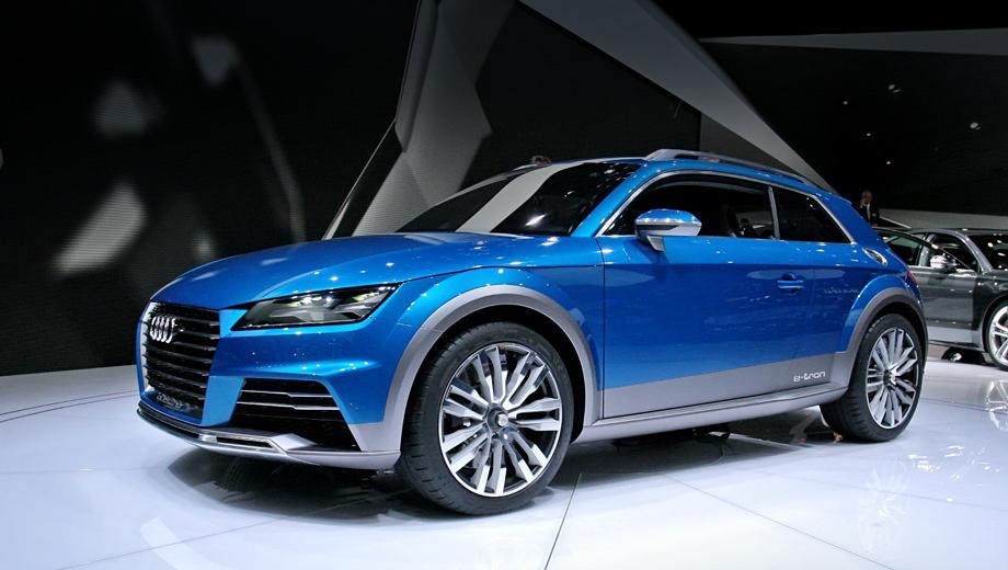 Audi allroad,Audi allroad shooting brake. Внешность кроссовера, согласно официальной версии, предвосхищает то, что мы увидим на спортивных машинах Audi в ближайшем будущем.