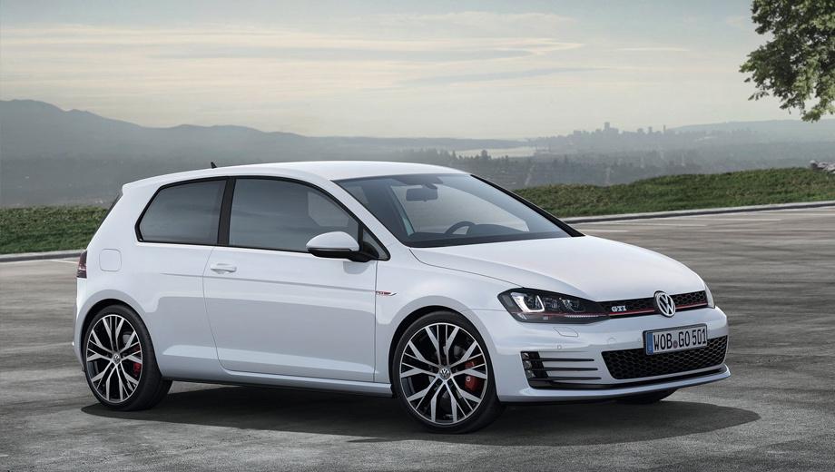 Volkswagen golf gti. В нынешнем поколении Volkswagen Golf GTI стал мощнее — 220 л.с. против прежних 211 сил, быстрее на 0,4 с в разгоне до 100 км/ч.