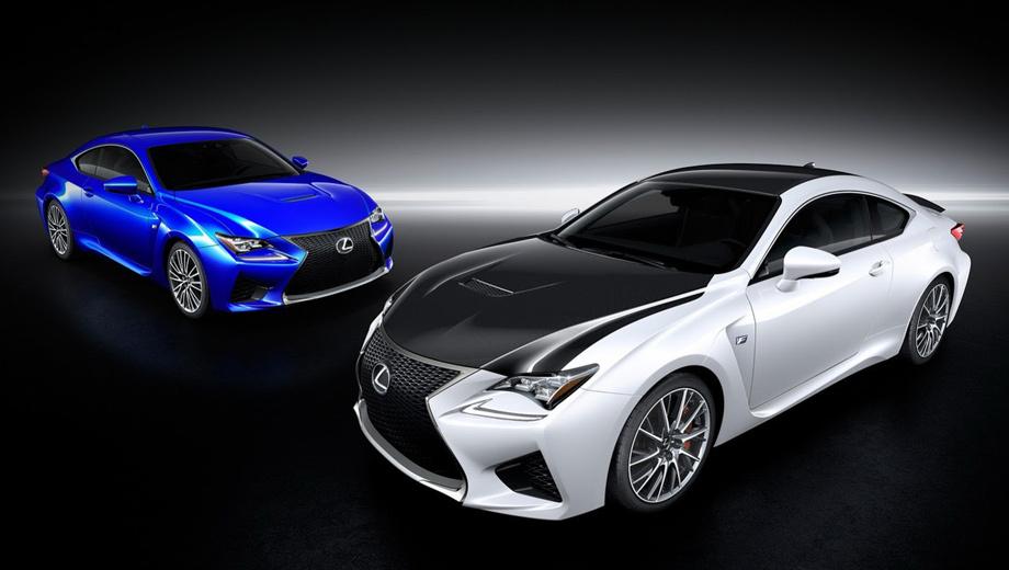 Lexus rc,Lexus rc f. Автомобиль и так выглядит более чем агрессивно, но с деталями чёрного цвета его облик становится ещё злее.