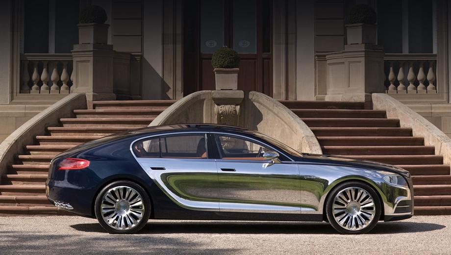 Bugatti galibier,Bugatti veyron. Концепт Galibier появился в 2009 году. Сначала он был двухцветным, но в 2010 году показался в Женеве в полностью чёрной окраске.