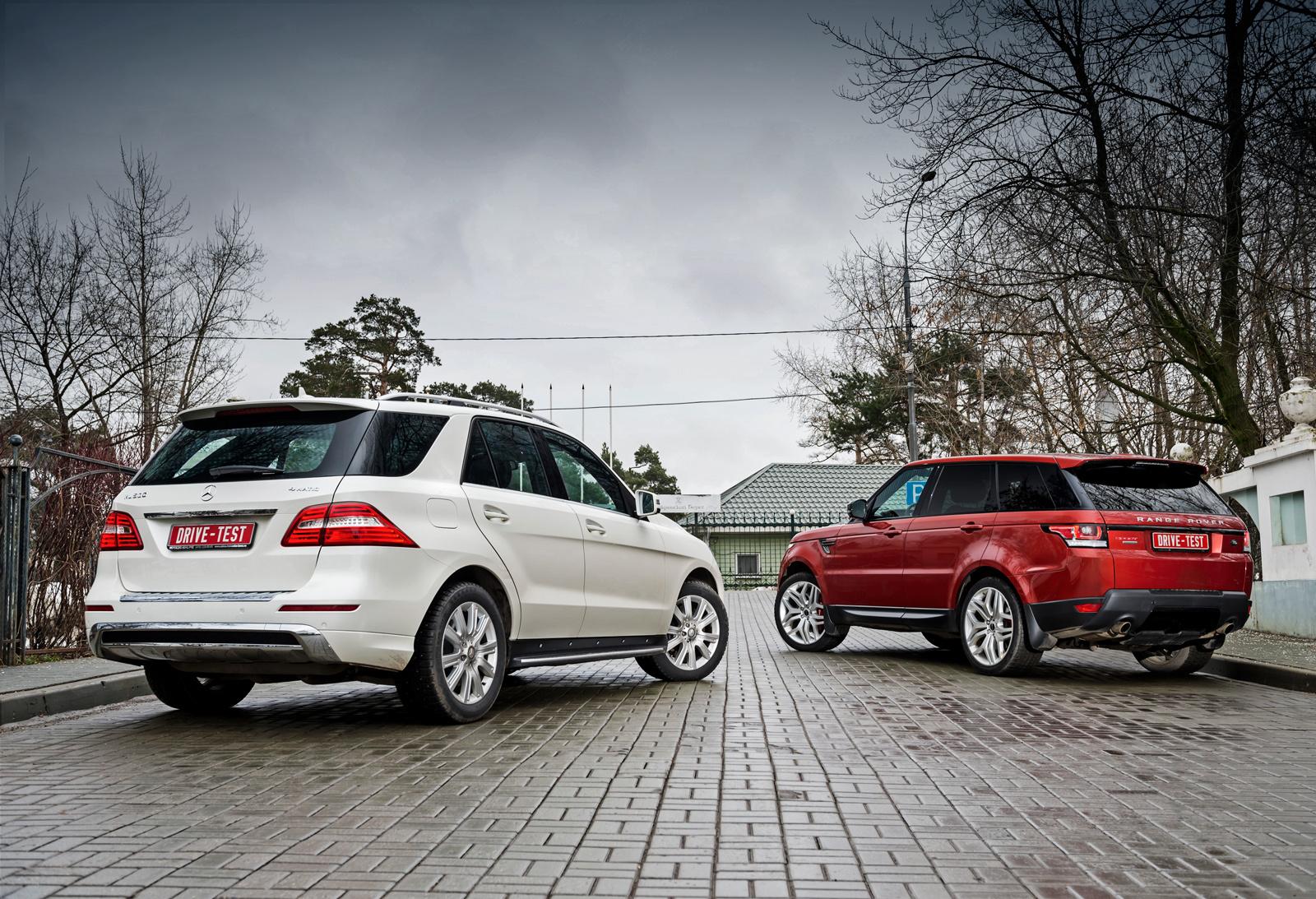 Лишаем Mercedes ML удовольствия сожрать Range Rover Sport