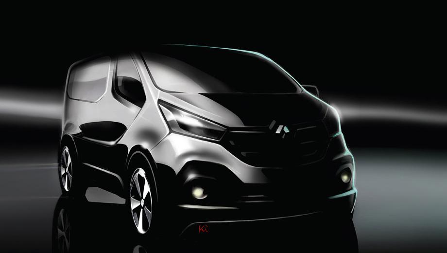 Renault trafic,Opel vivaro,Nissan primastar. Выложенный французами эскиз очень концептуален, но если до серийной машины дойдёт общая стилистика изображённой на рисунке машины, новый автомобиль будет заметно менее сдержанным, чем нынешнее поколение.