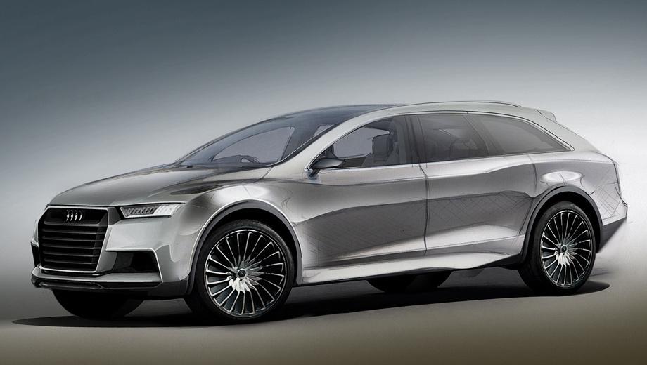 Audi q8,Audi r8 e-tron,Audi e-tron,Audi q8 e-tron. Напомним, что сама модель Q8 будет основана на кроссовере Q7 следующего поколения (на модернизированной платформе MLB), но будет отличаться от него более обтекаемым силуэтом. Среди потенциальных соперников — пара BMW X6 и X7.