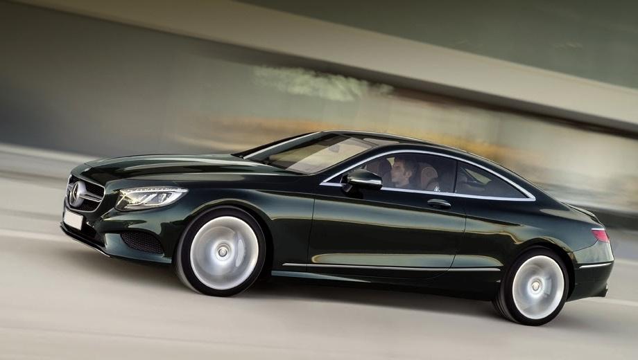 Mercedes s,Mercedes s coupe. От шоу-кара купе S-класса отличается иной графикой фар и формой бампера, а также обычными дверными ручками и зеркалами, которые пришли на смену совсем концептуальным. А вот линии и пропорции кузова сохранились.