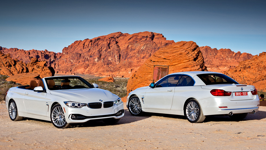 Bmw 4. Россияне смогут оформить заказ на кабриолет BMW четвёртой серии с 1 марта 2014 года. В продажу поступят модификации 420d, 428i и 435i по цене 2 220 000–2 735 000 рублей. Полноприводные версии 428i xDrive доберутся до дилеров к лету. По умолчанию все исполнения для России комплектуются восьмиступенчатым «автоматом» (в Европе — шестиступенчатой «механикой»).