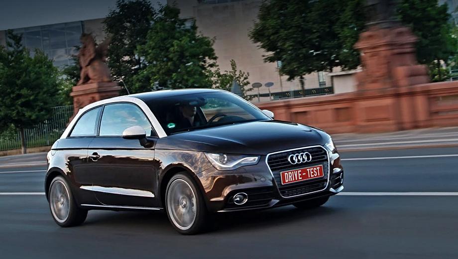 Audi a1. В Германии цены на Audi A1 с 85-сильным турбомотором 1.2 начинаются с 17 200 евро. А дизельную машину не купить меньше чем за 20 200 евро. Чуть-чуть дороже MINI.