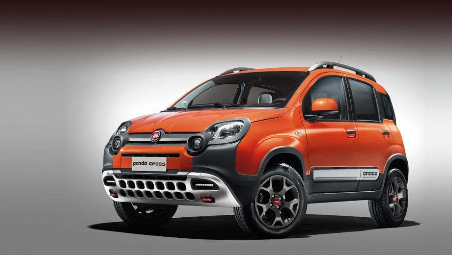 Fiat panda,Fiat freemont,Fiat panda cross,Fiat freemont cross. У Панды новые бамперы с защитными вставками и красными буксирными проушинами, изменённая передняя оптика, оригинальные 15-дюймовые легкосплавные колёсные диски, новые рейлинги.