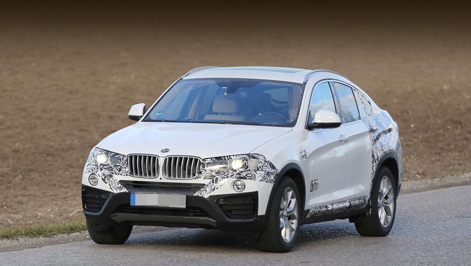 Bmw x4. В сравнении с паркетником BMW X3 кроссовер X4 будет на 34 мм шире и на 53 мм ниже своего «донора».