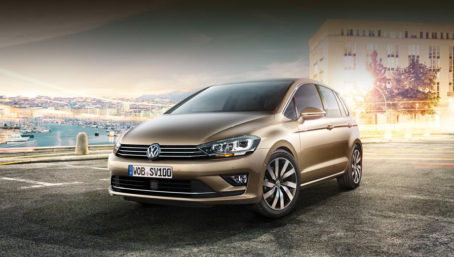 Volkswagen golf plus,Volkswagen golf sportsvan. Серийный субкомпактвэн Golf Sportsvan практически не отличить от образца, показанного в сентябре прошлого года, хотя тот считался концептом.