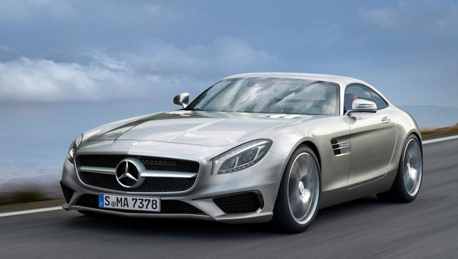 Mercedes amg gt. Штатный иллюстратор издания Auto Express изобразил, каким, по его мнению, окажется серийный AMG GT. Следует помнить, что кардинально он почти никогда в своих предположениях не ошибается.