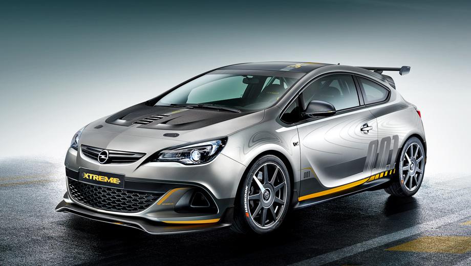 Opel astra opc. Развитый аэродинамический обвес с большущим антикрылом на пятой двери, углепластиковые детали, пара двуствольных выпускных патрубков и особый окрас — на дороге внимание машине обеспечено.