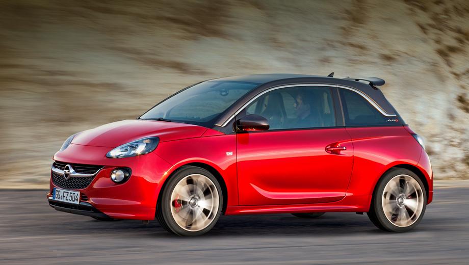 Opel adam,Opel adam s. Похоже, с «горячим» хэтчбеком Adam S происходит то же, что было с версией Adam Rocks. Находясь в статусе концепта, последний выглядел практически серийно, и по пути к конвейеру его внешность изменилась совсем незначительно.