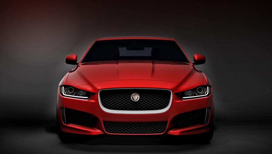 Jaguar xe. Пока это первое изображение грядущего среднеразмерного седана из Ковентри. Однако уже сейчас можно сказать, что в корпоративную стилистику машина вписывается на все сто.