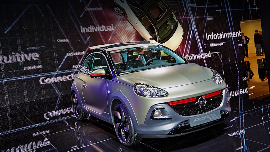 Opel adam,Opel adam rocks. Увеличенный на 15 мм дорожный просвет — вот главный козырь новой версии. Но даже он в отсутствии полного привода вряд ли поможет при покорении хоть какого-то бездорожья.