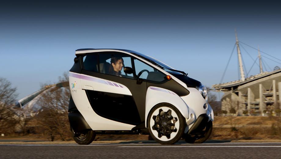 Toyota i-road. Трицикл i-Road может пробежать на одной зарядке 50 км, но предполагается, что в типичных ситуациях горожане будут использовать этот аппарат для перемещений на гораздо меньшие расстояния.