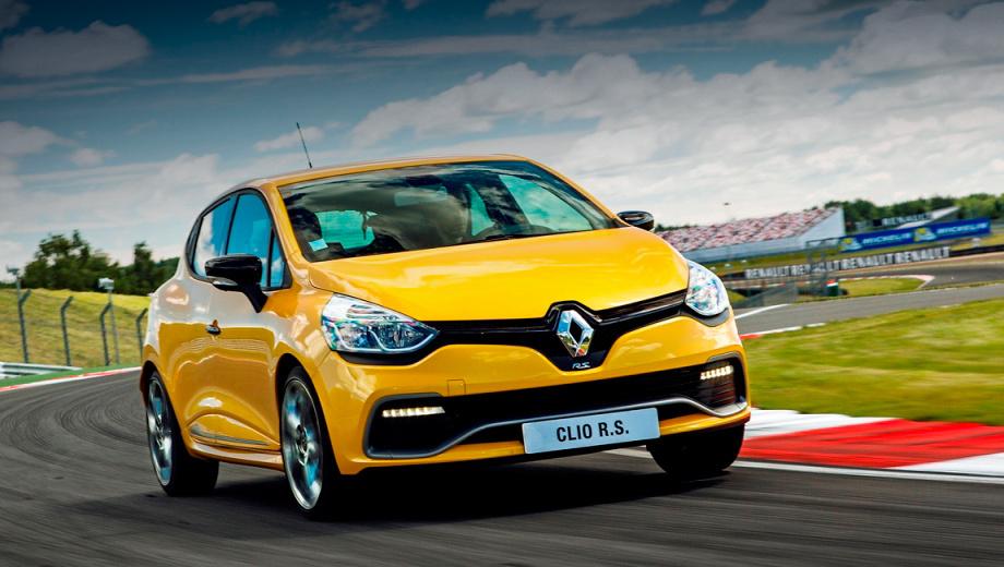 Renault clio rs,Renault clio. Новинка набирает 100 км/ч за 6,7 с, развивает максималку в 230 км/ч, а средний расход топлива составляет 6,3 л/100 км.