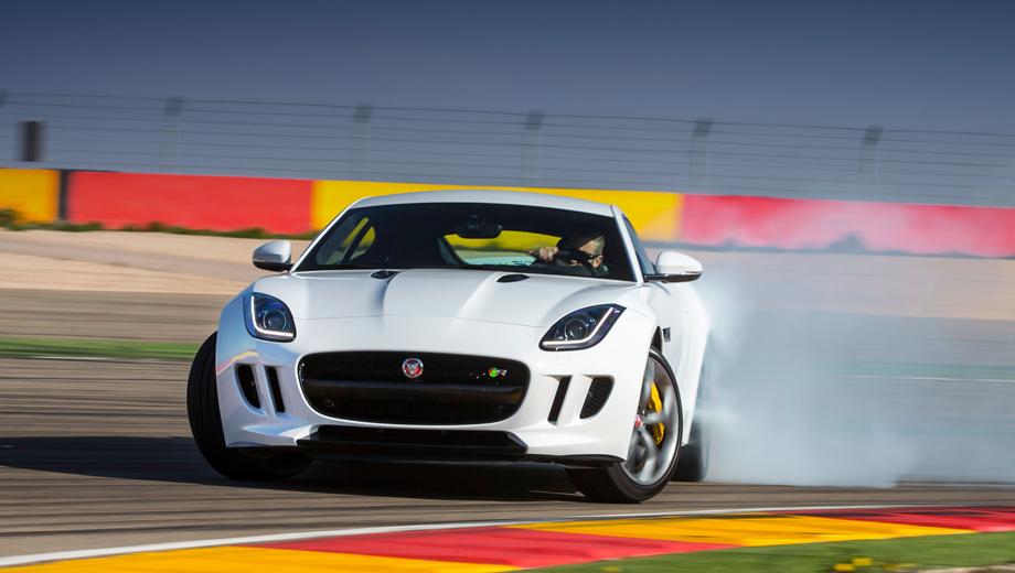 Jaguar f-type. Начальная цена купе — 3 370 000 рублей за 340-сильный вариант. Промежуточный F-type S оценивается в 3 975 000 рублей. Наиболее дорогая версия — F-type R за 5 670 000 рублей. Для сравнения: Porsche 911 Carrera стоит от 4 544 000, Carrera S — от 5 241 000, а 911 Turbo — от 8 307 000.