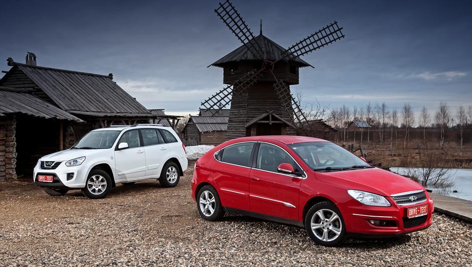 Chery m11,Chery tiggo. Вариатором в России нынче оснащены лишь две модели Chery: M11 (справа) и Tiggo. Но не стоит думать, будто все остальные автомобили марки сплошь довольствуются одной «механикой». К примеру, компакт Chery IndiS предлагается с пятиступенчатым «роботом». Кроссовер Tiggo одно время можно было купить в двухпедальном «автоматическом» исполнении, как сейчас его тагазовский клон Vortex Tingo.