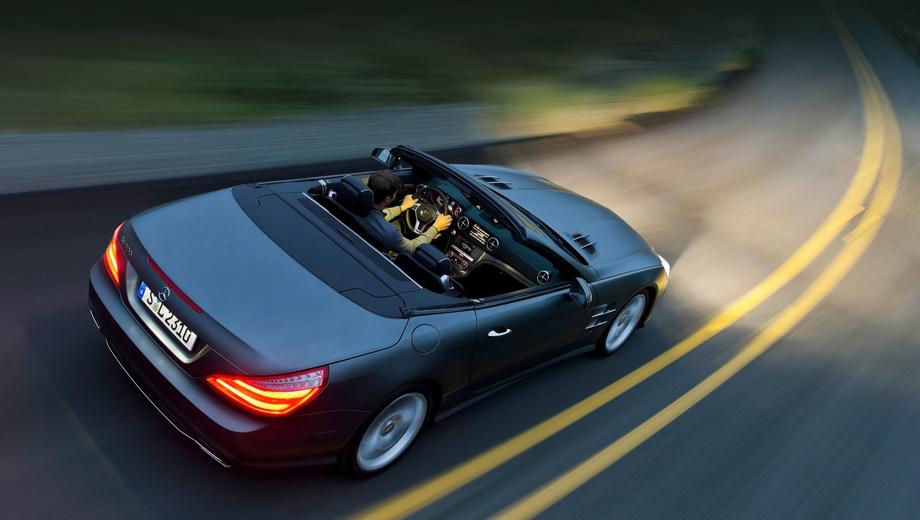 Mercedes sl,Mercedes slk. Нынешнее поколение SL появилось в 2012 году. В гамме моторов присутствуют агрегаты V6, V8 и V12 мощностью от 333 до 630 л.с.