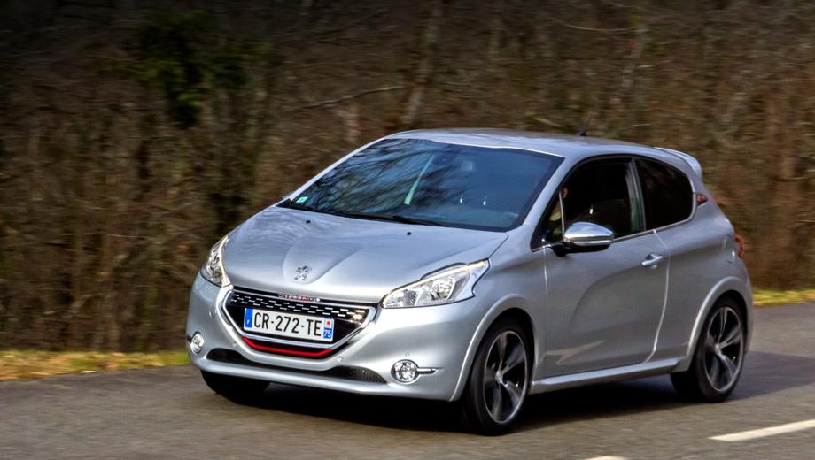 Peugeot 208,Peugeot 208 gti. С ноля до 100 км/ч хот-хэтч 208 GTi разгоняется за 6,8 с.