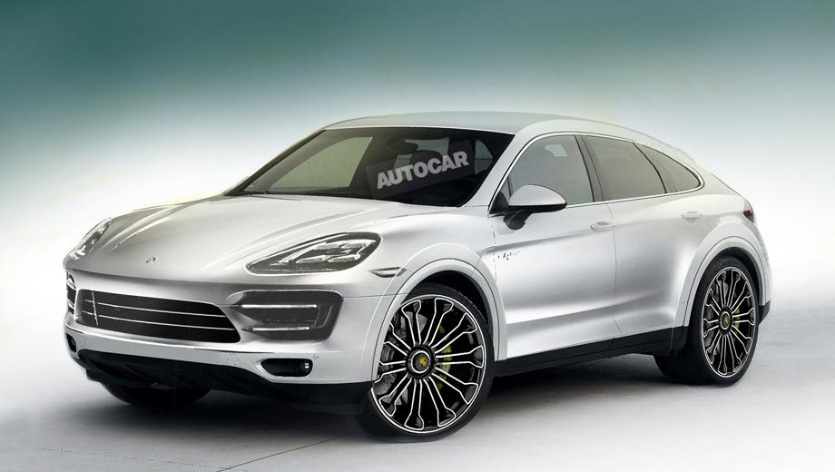 Porsche cayenne. Пока никаких официальных изображений Porsche Cayenne Coupe нет. Перед вами рендер, подготовленный коллегами из издания Autocar.