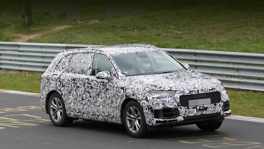 Audi a4,Audi q7. Новый кроссовер Q7 впервые вышел на Северную петлю. Что там делает такой мастодонт? Учитывая, что модель похудеет более чем на три центнера, мы вправе ожидать от неё куда большей прыти даже с «младшими» агрегатами. Кстати, говорят, тут может появиться двухлитровый дизель. У предшественника самые скромные моторы — объёмом три литра.