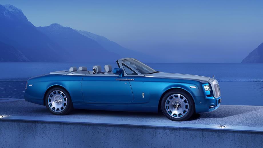 Rollsroyce phantom drophead coupe,Rollsroyce phantom. Кабриолет Phantom Drophead Coupe выпускается с 2007 года, а в 2012-м семейство Phantom пережило обновление. Это самый дорогой серийный Роллс ценой около $450 тысяч. Но Waterspeed Collection идёт намного дальше — он оценён в 435 000 фунтов ($733 000).