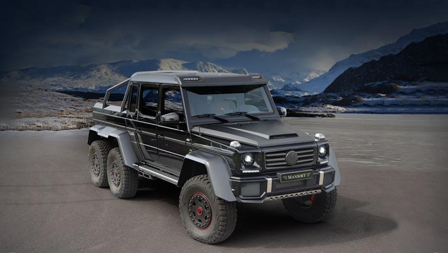 Mercedes g. В российском представительстве компании Mercedes-Benz Драйву сообщили, что в нашей стране сейчас насчитывается не более десятка «обычных» пикапов G 63 AMG 6х6. Из этих шестиколёсных машин ценой от 24 880 000 рублей продано лишь две. Одна уже передана клиенту. О реализации в России трёхосного G-класса, прошедшего доработку в каком-либо тюнинг-ателье, у Мерседеса информации нет.