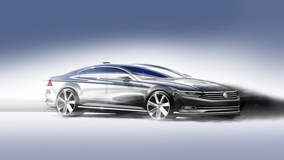 Volkswagen passat. Дебют нового Пассата состоится в октябре в Париже. Там мы и увидим, как во время поворотов дневные ходовые огни превращаются из белых в жёлтые.