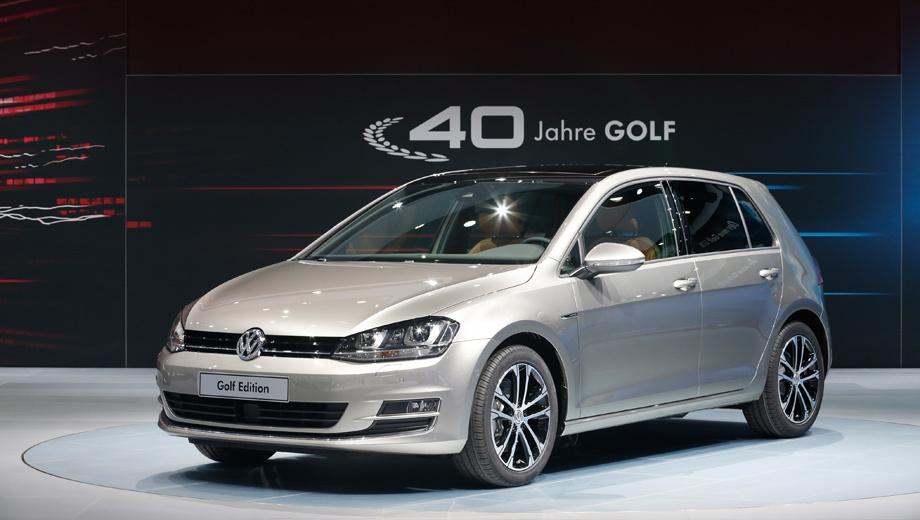 Volkswagen golf,Volkswagen golf edition,Volkswagen golf wolfsburg edition. Завтра, 31 мая, в Лейпциге для публики откроется автосалон AMI, где и дебютирует Golf Edition. Там же, к слову, можно будет увидеть концепт Audi RS5 TDI с экспериментальным мотором.