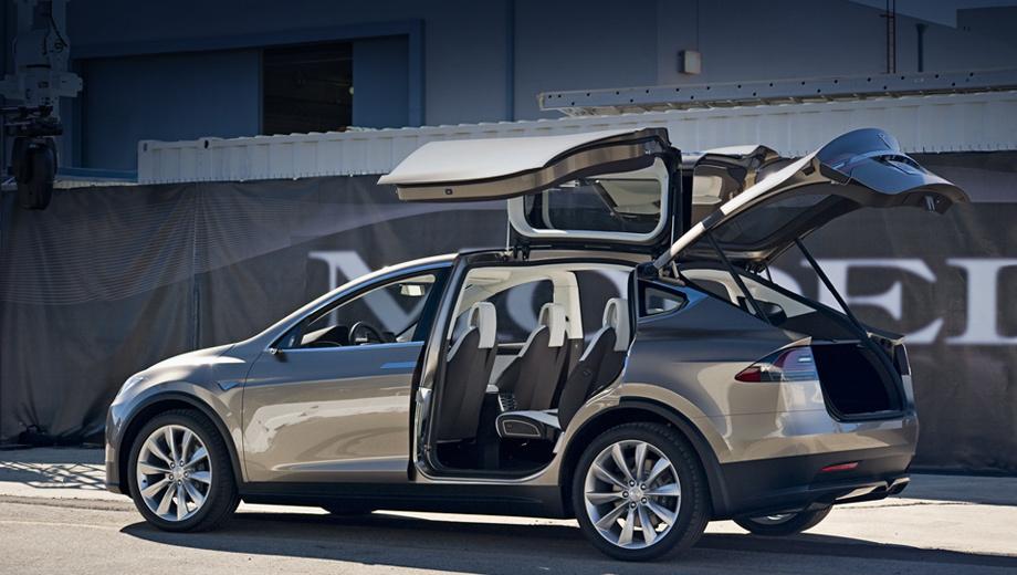 Tesla model x. Паркетник Tesla Model X (на фото предсерийный прототип) ждут в том числе и покупатели, уже сделавшие заказ. В прошлом году таких было пять сотен.