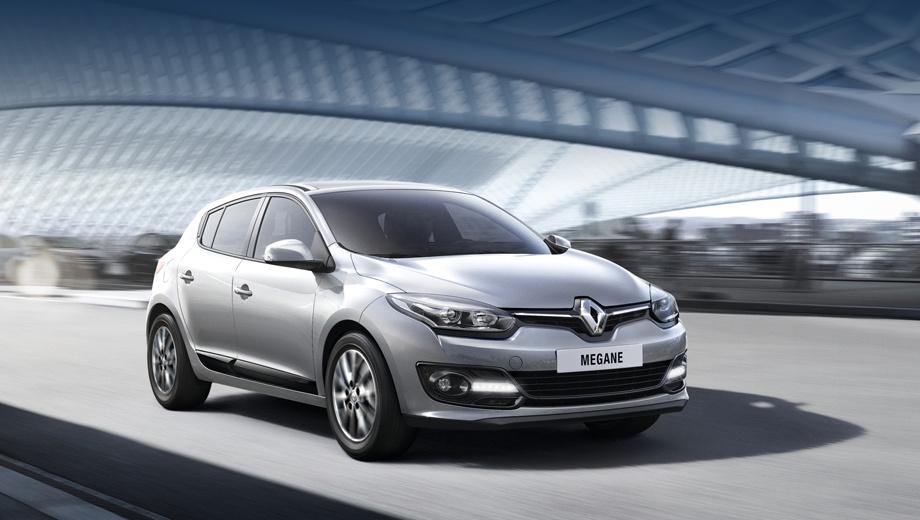 Renault megane. Автомобиль получил новый передний бампер, другие решётку радиатора, эмблему Renault, фары и дневные ходовые огни.