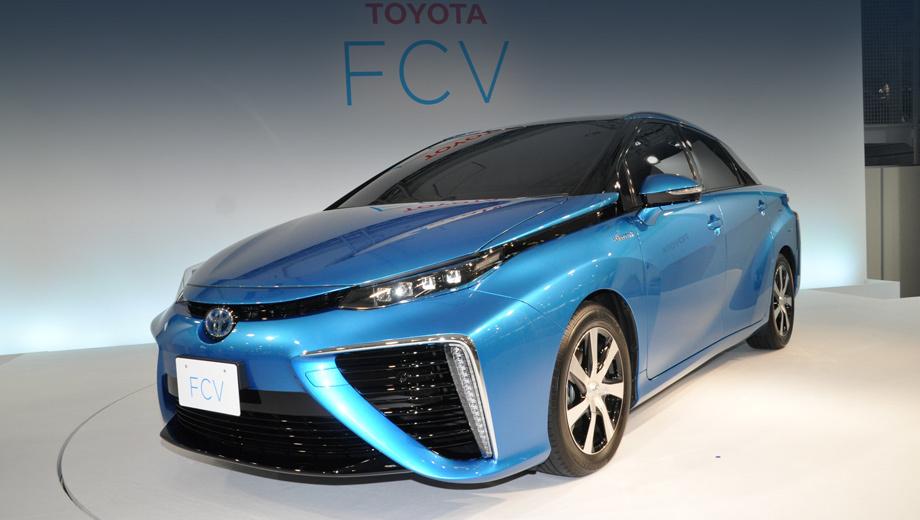 Toyota fcv,Toyota mirai. Группа Toyota работает над топливными элементами не только для легковушек, но и для автобусов, погрузчиков и даже коттеджей. В массовости производства водородных электрохимических ячеек — залог коммерческой жизнеспособности проекта.