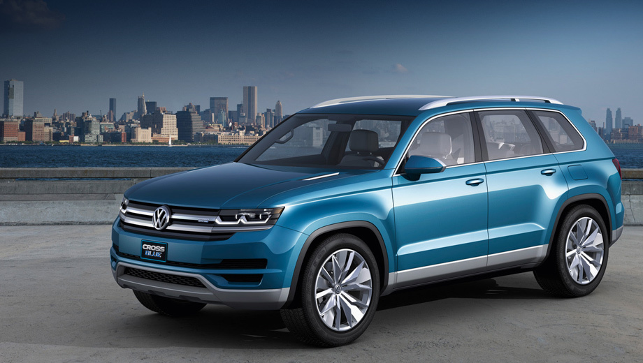 Volkswagen crossblue. Концепт CrossBlue имел шесть отдельных сидений. Серийная версия будет семиместной.