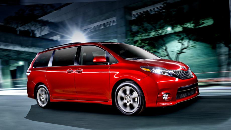 Toyota sienna. В продажу рестайлинговый минивэн Toyota Sienna должен поступить уже осенью.