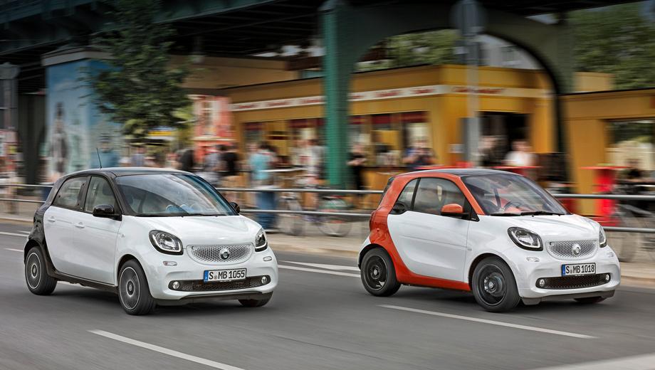 Smart fortwo,Smart forfour,Smart fortwo cabrio,Smart forfour cabrio. Шеф Даймлера Дитер Цетше признался, что если бы не сделка по платформам и двигателям с Renault, новое поколение Смарта не увидело бы свет. И теперь, чтобы стать наконец выгодным для материнской компании, Smart должен задействовать весь спектр возможных модификаций.