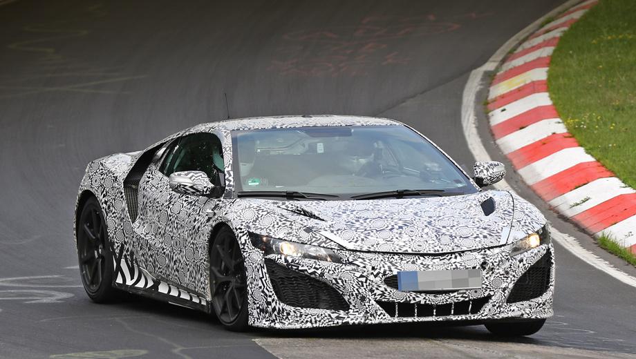 Acura nsx,Honda nsx. Новое хондовское купе мы рассматривали в виде прошлогодних концептов Acura NSX и NSX Concept-GT. Серийная версия выглядит почти так же.