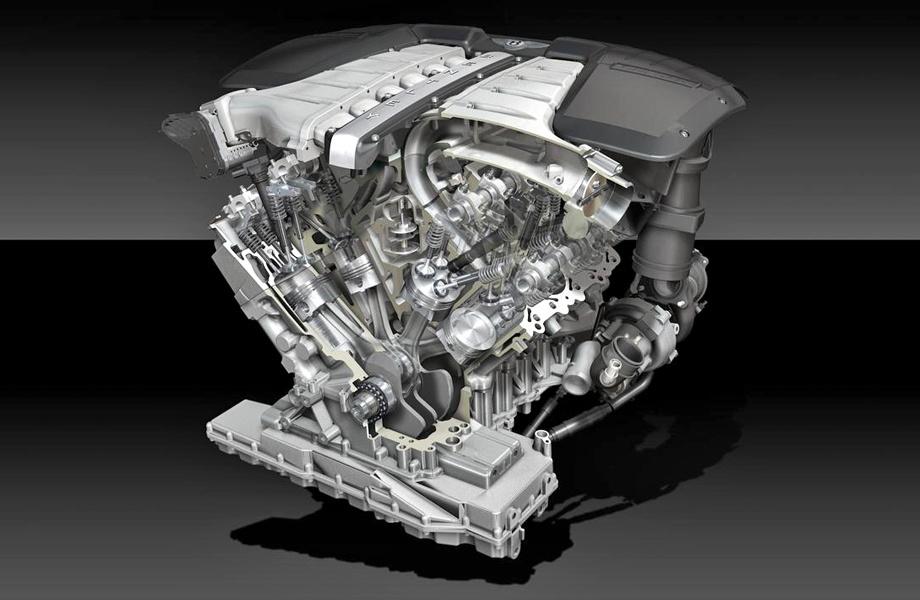 Двигатель W12 — наддувная