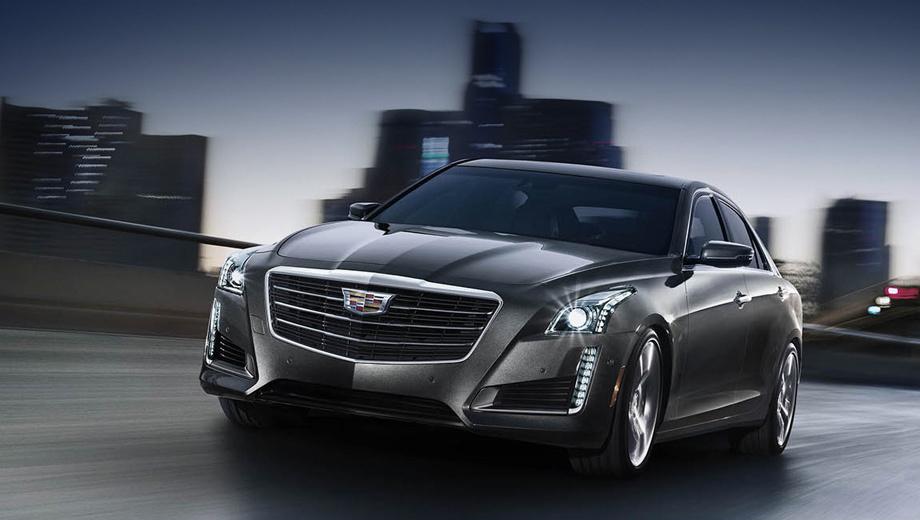 Cadillac cts. Вслед за обновлённым ATS рестайлинговый CTS получил новую эмблему без венка.