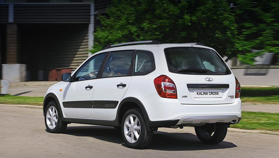 Lada kalina,Lada kalina cross. Версия Cross на 23 мм выше стандартной Калины. Дорожный просвет новинки составляет 208 мм.
